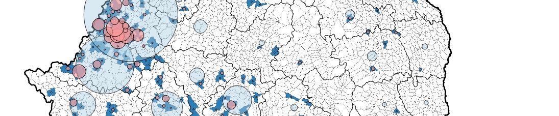 Cartographie des localités d'origine en Roumanie des roms en bidonvilles à Lyon