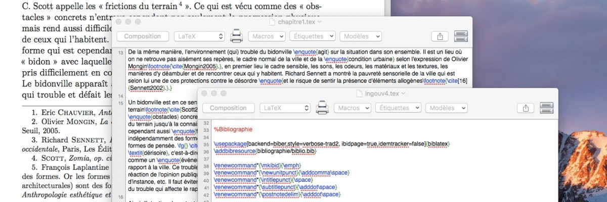 Outil-thèse, synthèse #1 : comment j'ai écrit ma thèse en LaTeX et géré la bibliographie avec BibTex